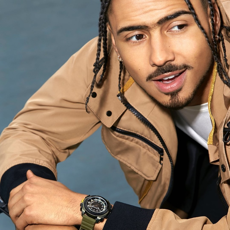 Entertainer Quincy Brown stars in Coach's C001 watch campaign.
