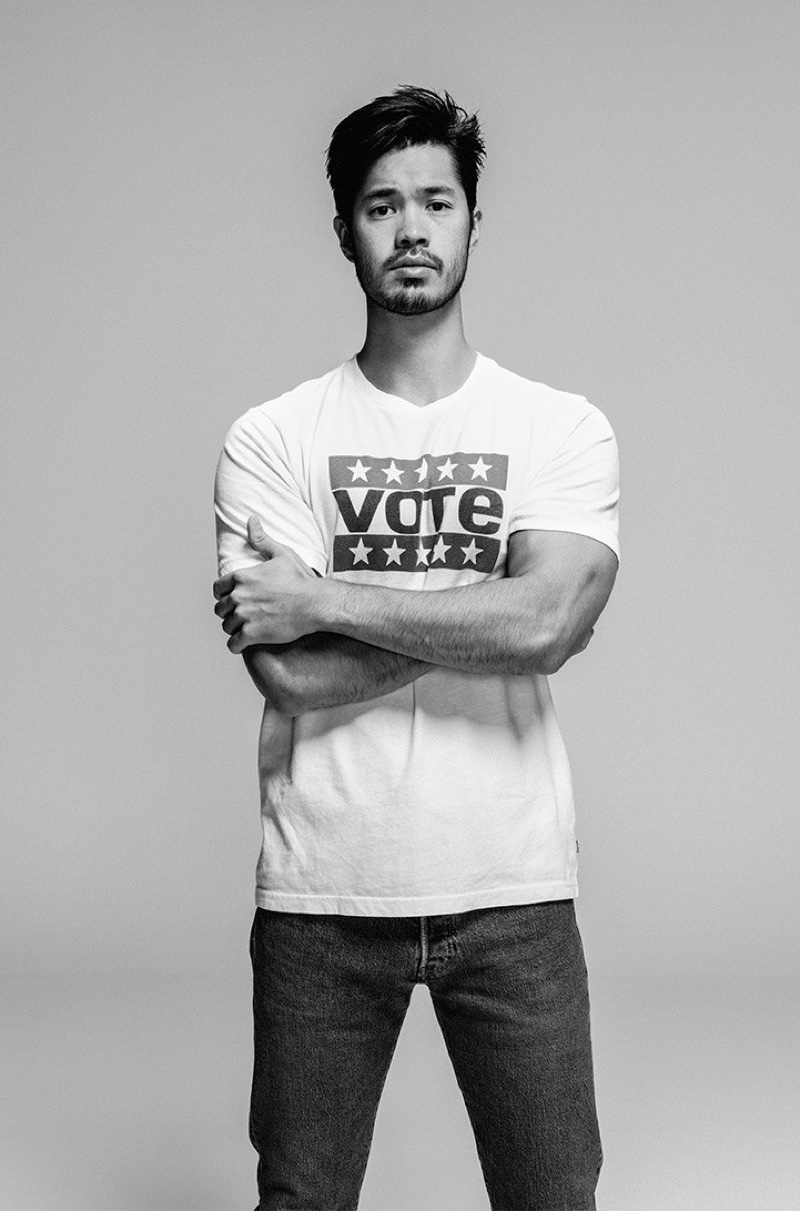 Ross Butler links up with Levi's for its 2020 vote campaign.