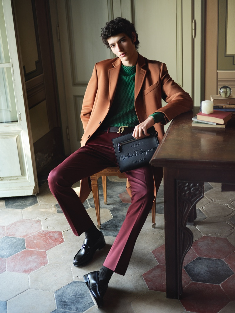 Salvatore Ferragamo enlists model Mario Lopez as the face of its Tornabuoni 1927 collection.