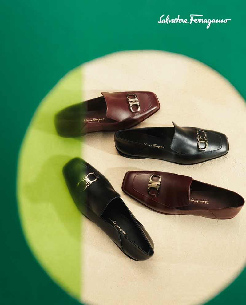 Salvatore Ferragamo's leather loafers for men are front and center for its fall-winter 2020 campaign.