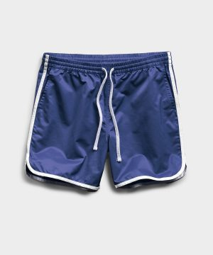 Satin Dolphin Short in Navy