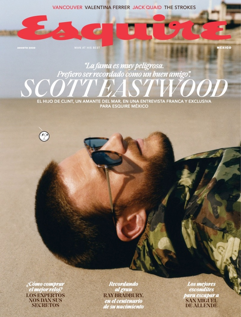 Scott Eastwood covers the August 2020 issue of Esquire México.