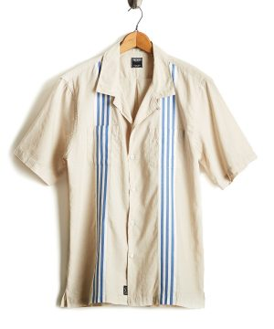 Short Sleeve Stripe Bowling Shirt