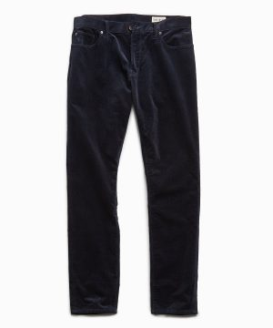 Slim Fit 5-Pocket Stretch Italian Cord in Navy