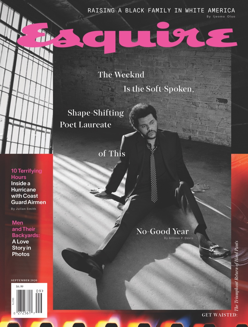 The Weeknd covers the September 2020 issue of Esquire magazine.