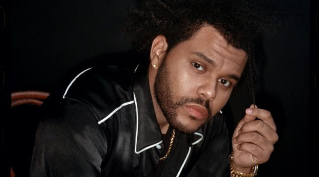 Connecting with Esquire, The Weeknd dons a Nicholas Daley shirt with a John Elliott t-shirt, and Chrome Hearts necklace.