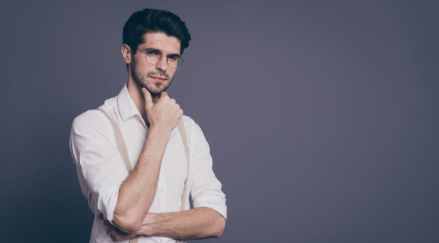 Thinking Business Man Male model