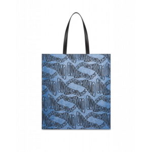 Warped Logo Nylon Shopper