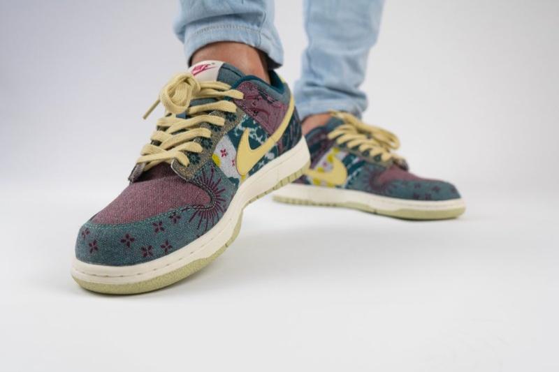 Yankeekicks On Foot Lemon Wash Nike Dunk Low SP CZ9747-900