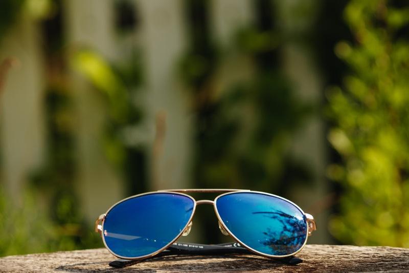 Aviator Sunglasses Mens Mirrored Blue Lenses