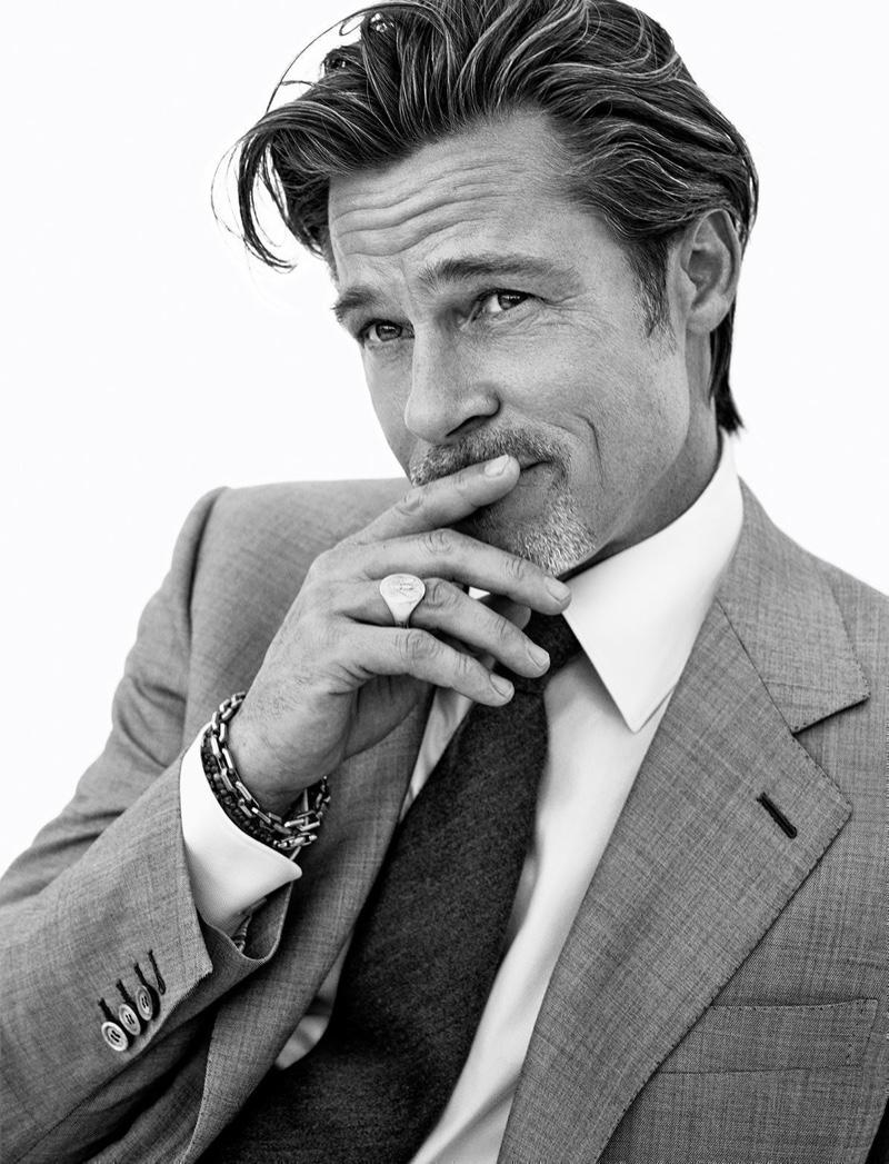 Mikael Jansson photographs Brad Pitt for Brioni's fall-winter 2020 campaign.