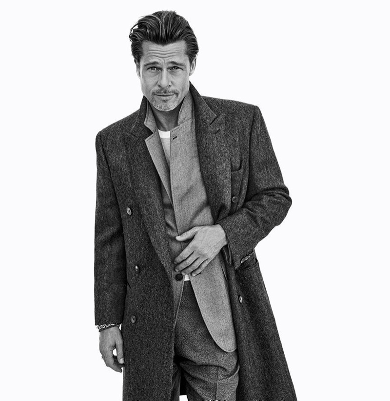 Front and center, Brad Pitt stars in Brioni's fall-winter 2020 campaign.
