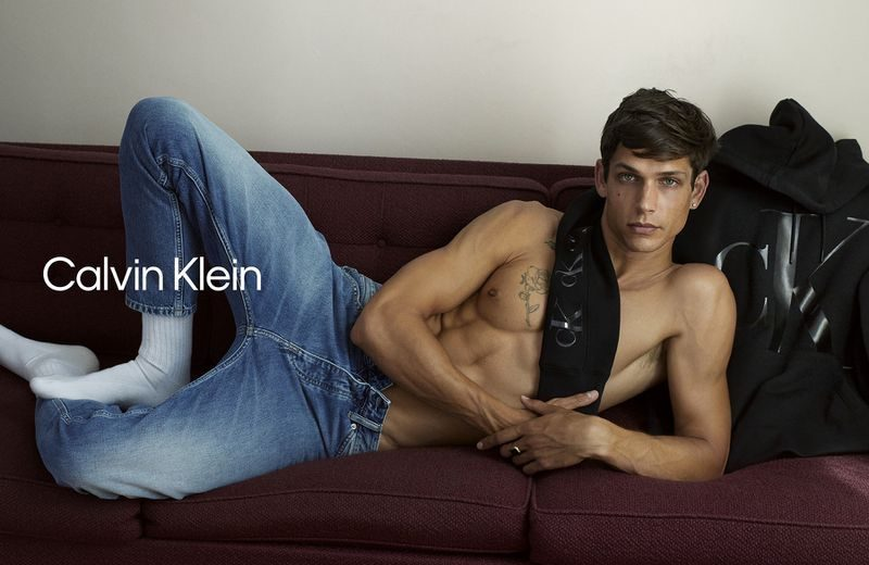 Ethan James Green rocks a pair of jeans for Calvin Klein's fall 2020 #MyCalvins campaign.