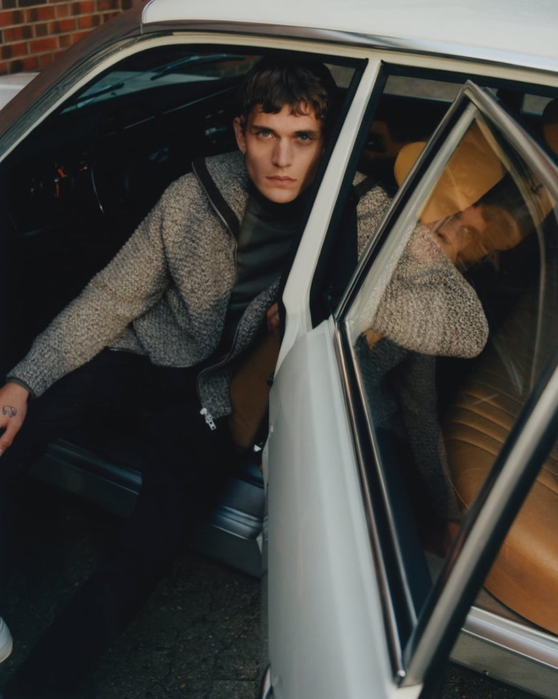 "Vitali Gelwich photographs Julien Pernot for Closed's ""Mellow Drive"" winter drop."