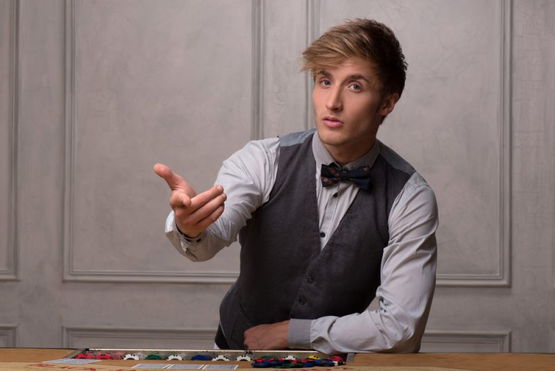 Costume Poker Dealer