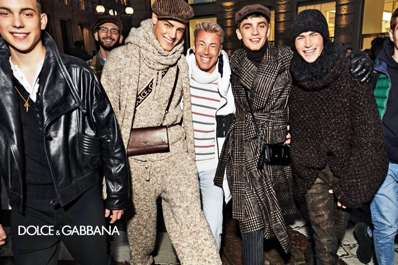 Veljko Mićović, Alessio D'Ortenzi, Rodrigo Bidin, and Lourenço Carvalho front Dolce & Gabbana's fall-winter 2020 men's campaign.