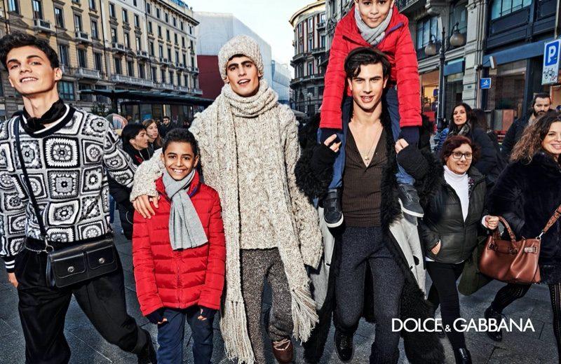 Alex Palade, Srdjan Kutlesic, Mattia Narducci star in Dolce & Gabbana's fall-winter 2020 men's campaign.