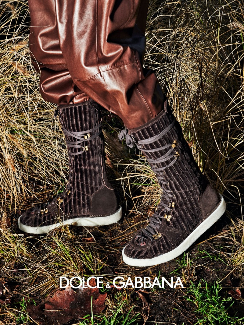 Dolce & Gabbana highlights statement footwear as part of its fall-winter 2020 men's campaign.