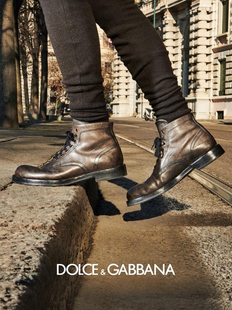 Mattia, Alessio + More Hit the Streets of Milan for Dolce & Gabbana Fall '20 Campaign