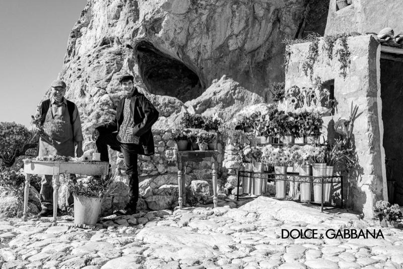 Francesco Finizio photographs Amerigo Valenti for Dolce & Gabbana's fall-winter 2020 men's campaign.