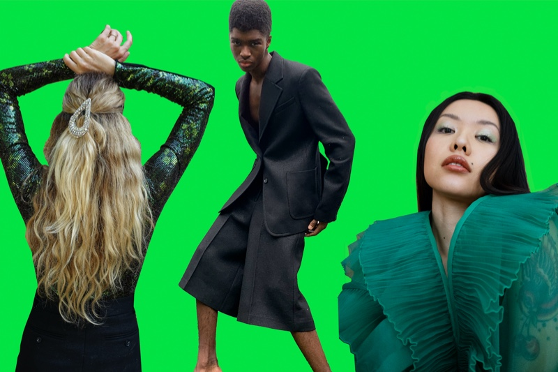 Wowing in statement looks, Alton Mason and Mia Kong dons H&M Studio fashions.