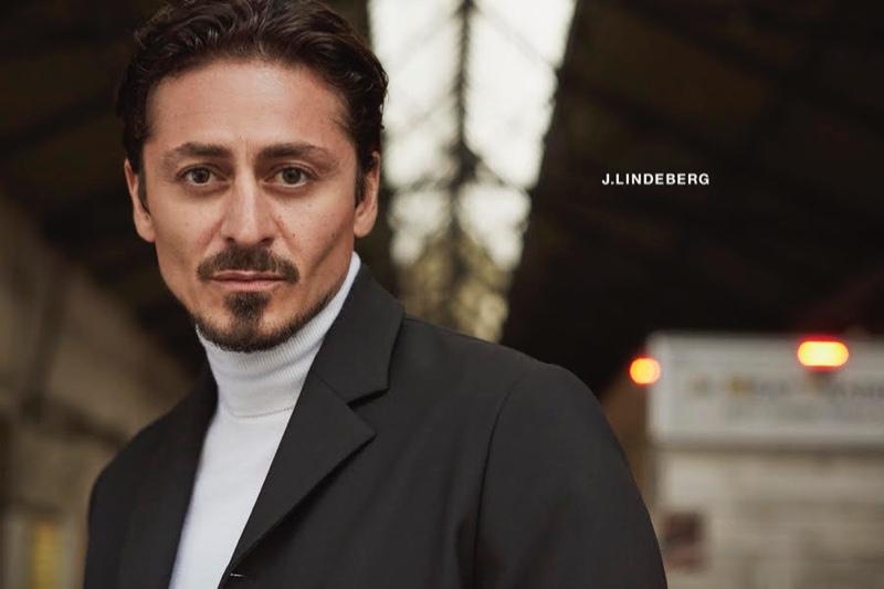 Actor Alexej Manvelov stars in J.Lindeberg's fall-winter 2020 campaign.