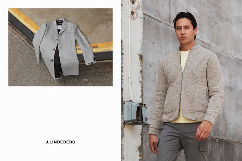 Going smart-casual, Qhris Magsino wears a look from J.Lindeberg for the brand's fall-winter 2020 campaign.