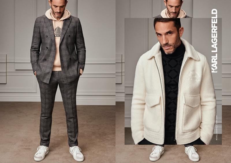 Liam & Sebastien Front Karl Lagerfeld Fall '20 Campaign