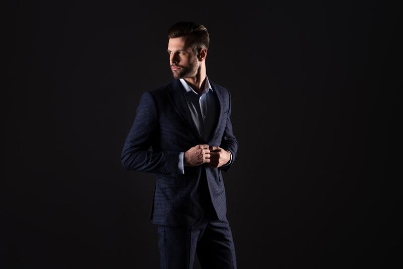 Male Model Suit Blue Dapper