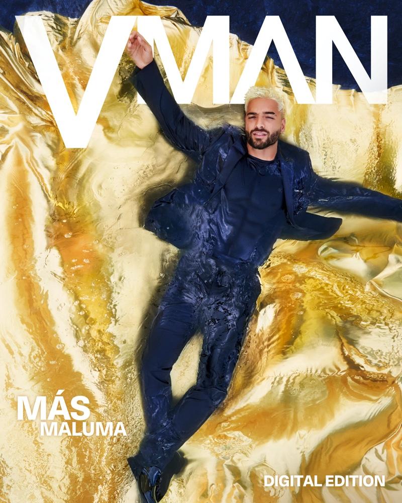 Maluma stars in a digital cover for VMAN.