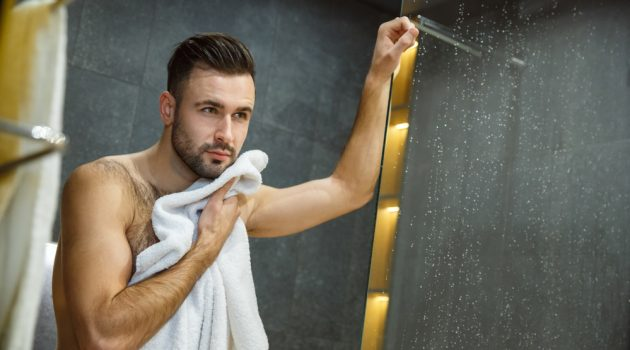 Man Toweling Off