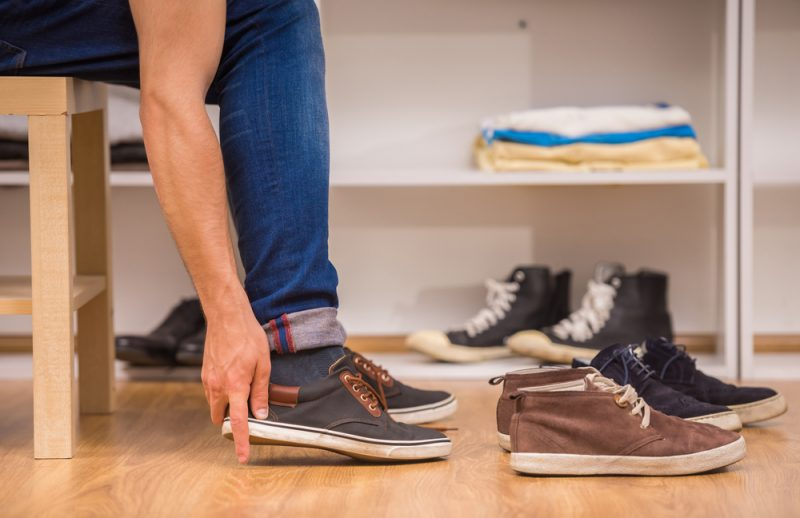 Man Trying on Shoes