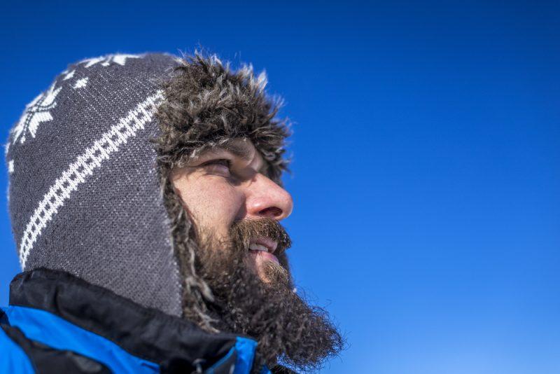 Man Winter Beanie Outdoors
