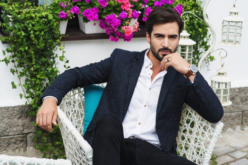 Man in Elegant Blazer