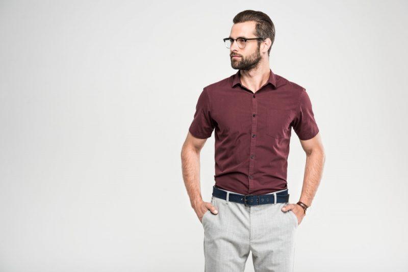 Man in Glasses Wearing Smart Style