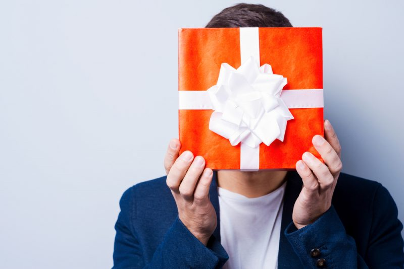 Man with Small Gift
