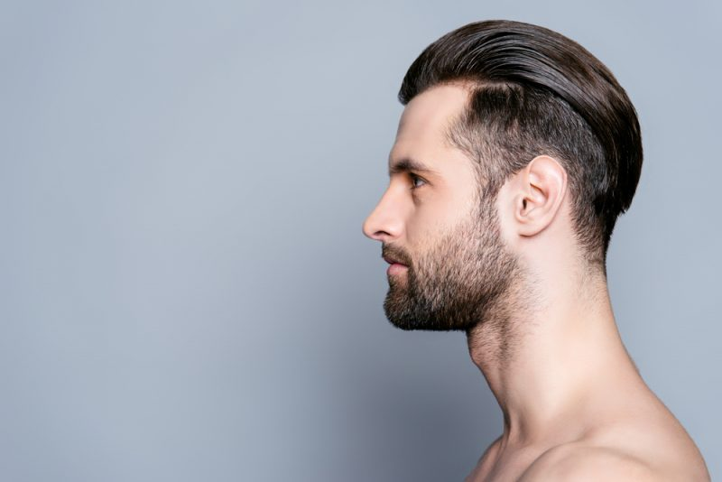 Man with Slicked Back Hair