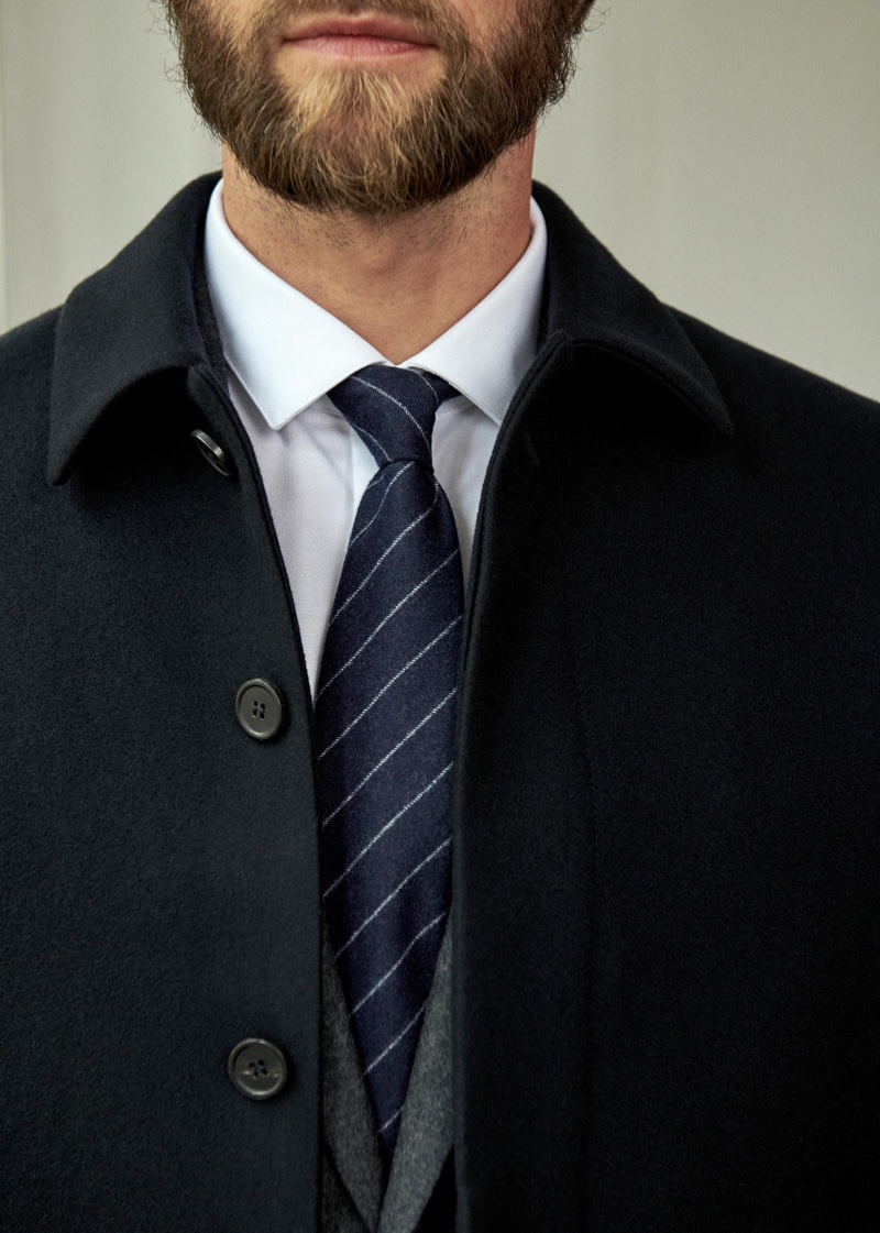 Outerwear makes an appearance for fall with Octobre's classic Frank coat.