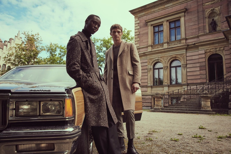 """Models Edge Lheureux and Julian Schneyder front Stylebop's """"A New Era of Style"""" campaign."""