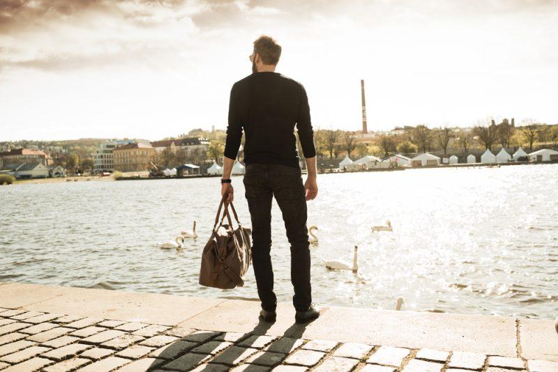 Stylish Man Traveling