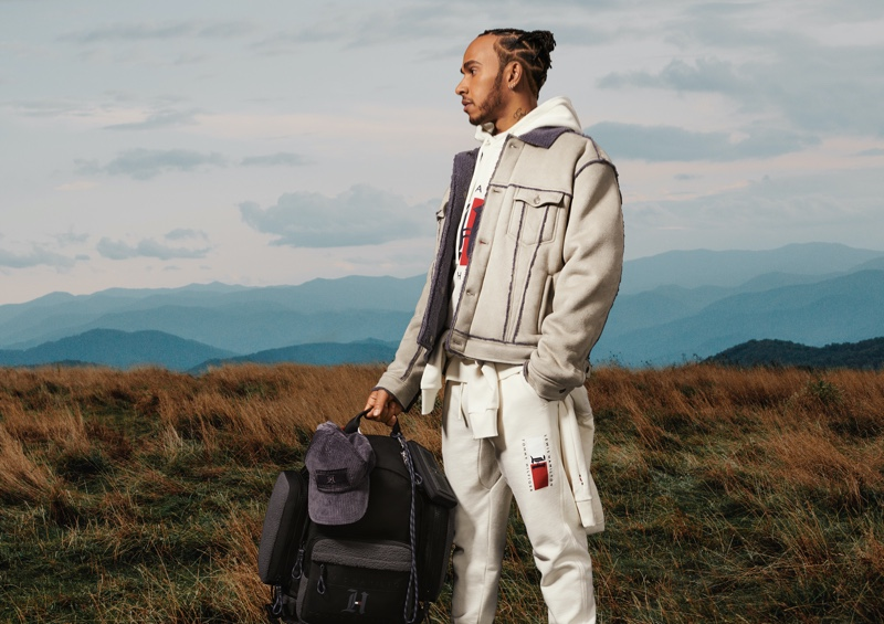 Reuniting with Tommy Hilfiger for his fifth TommyxLewis collection, Lewis Hamilton fronts the fall-winter 2020 campaign.