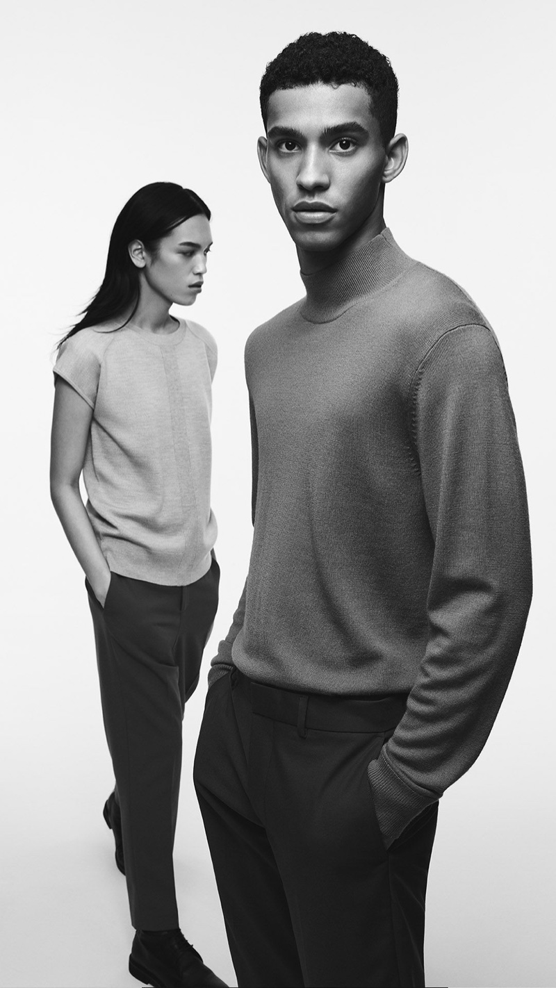 Dara Allen and Jan Carlos Diaz appear in Club Monaco's fall-winter 2020 campaign.