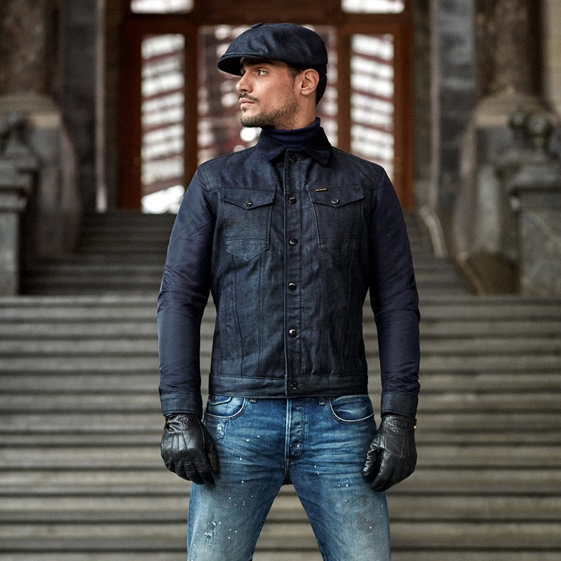 """Richard Deiss reunites with G-Star Raw to front its fall-winter 2020 """"Hardcore Denim"""" men's campaign."""