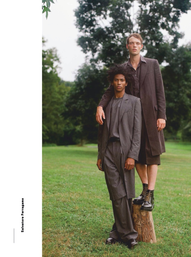 Models Rocky Harwood and Rafael Mieses link up for GQ Style México.