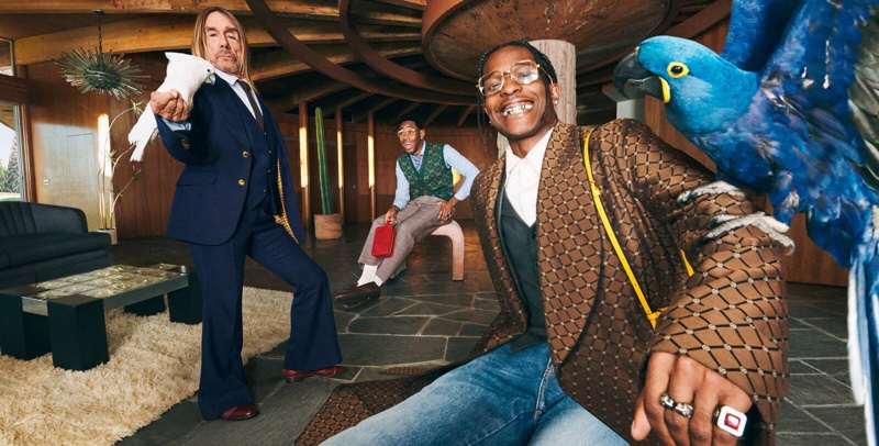 Italian brand enlists Iggy Pop, Tyler, The Creator, and A$AP Rocky as the stars of its fall-winter 2020 Tailoring campaign.