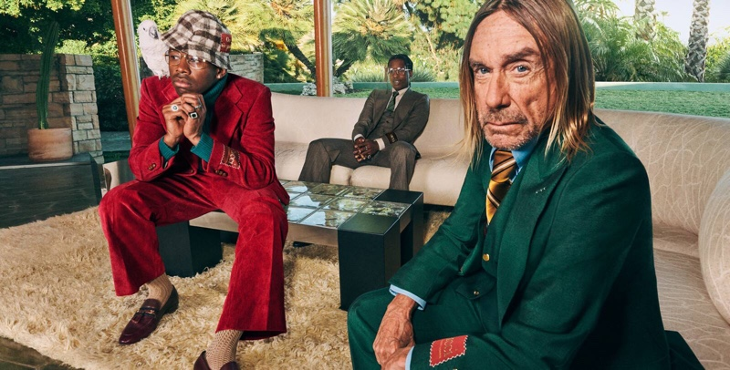 Tyler, The Creator, A$AP Rocky, and Iggy Pop star in Gucci's fall-winter 2020 Tailoring campaign.
