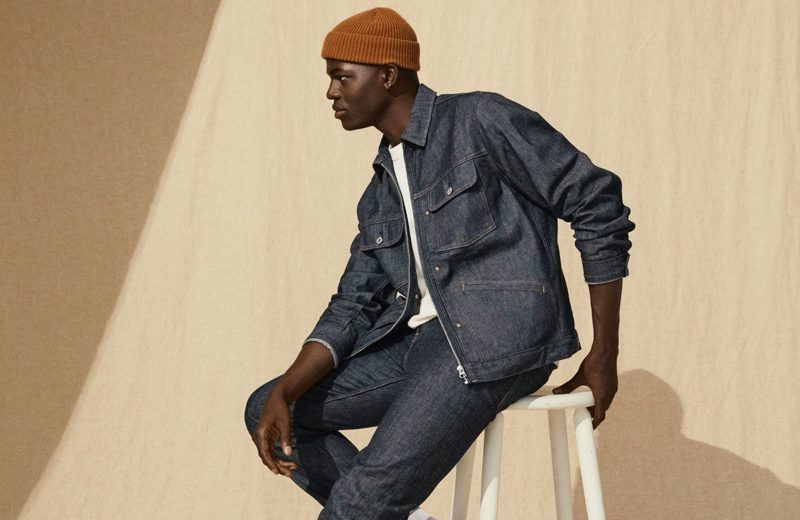 Evandro Laurens models a denim look from H&M's Jeans Redesign collection.
