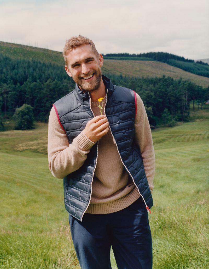 All smiles, Will Chalker stars in Hunter Boots' fall-winter 2020 campaign.