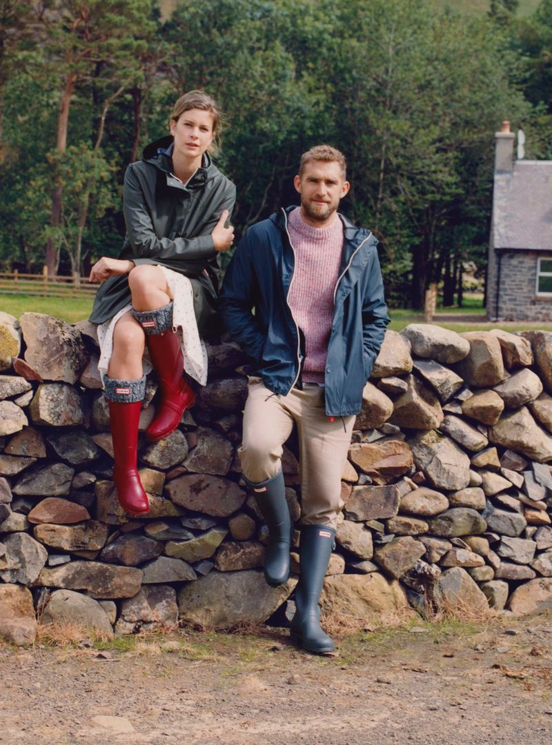 Chloé and Will Chalker front Hunter Boots' fall-winter 2020 campaign.