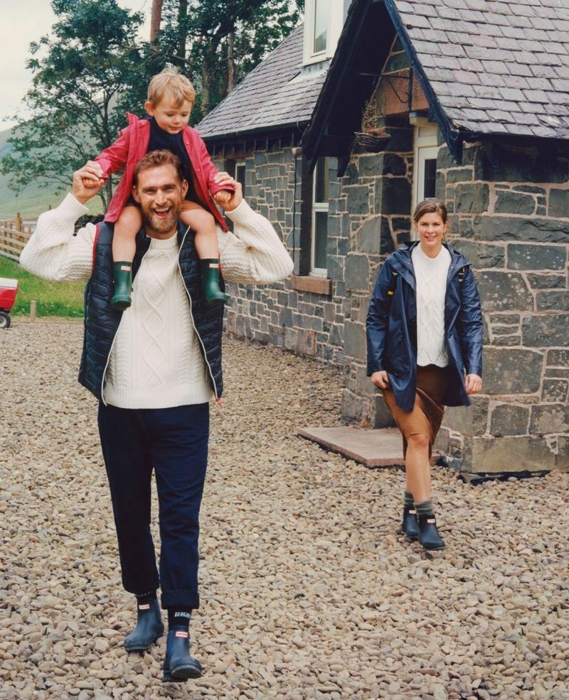 Hunter Boots enlists Will Chalker and his family to star in its fall-winter 2020 campaign.